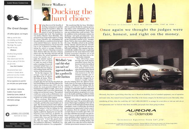 Article Preview: Ducking the hard choice, May 1998 | Maclean's