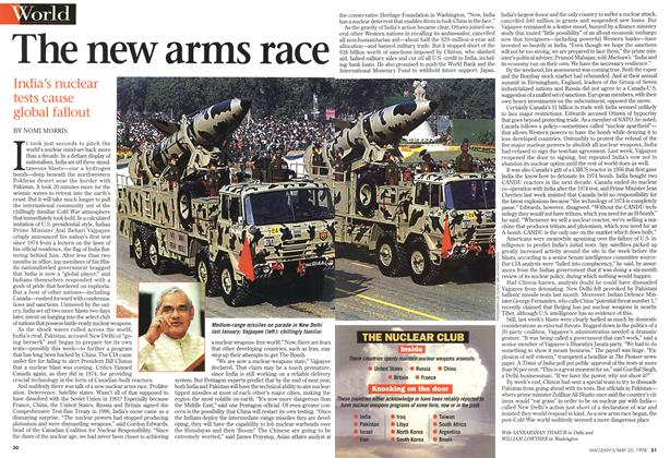 Article Preview: The new arms race, May 1998 | Maclean's