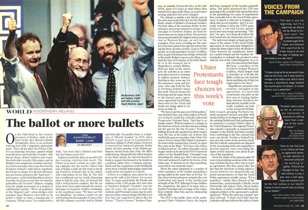 Article Preview: The ballot or more bullets, May 1998 | Maclean's