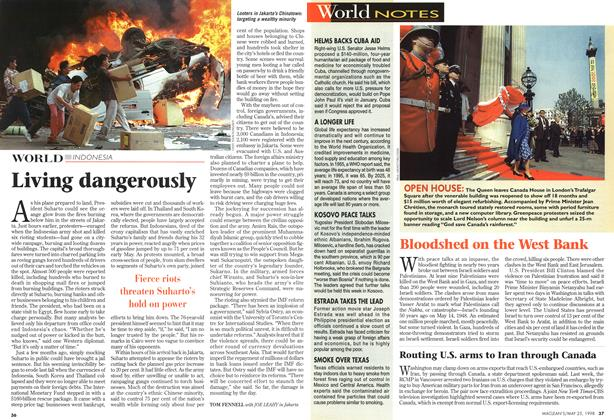 Article Preview: Living dangerously, May 1998 | Maclean's