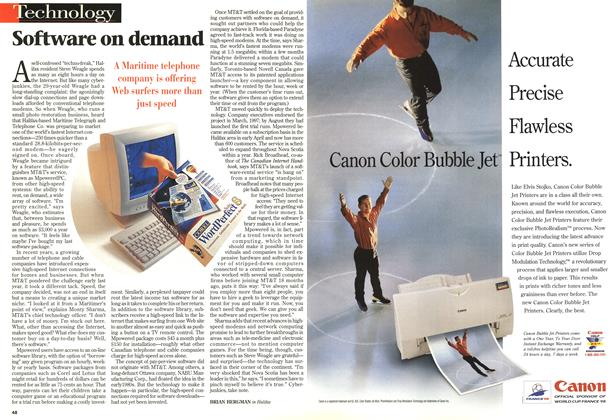 Article Preview: Software on demand, May 1998 | Maclean's