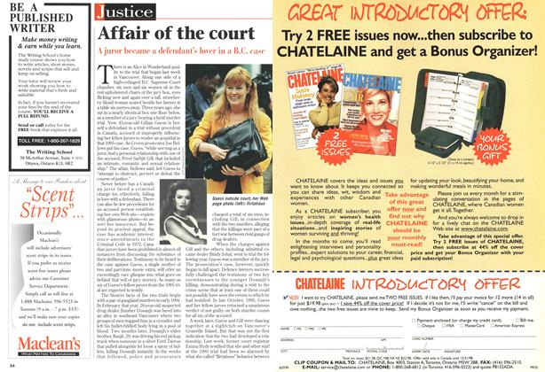 Article Preview: Affair of the court, May 1998 | Maclean's