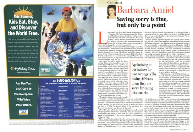 Article Preview: Saying sorry is fine, but only to a point, May 1998   Maclean's