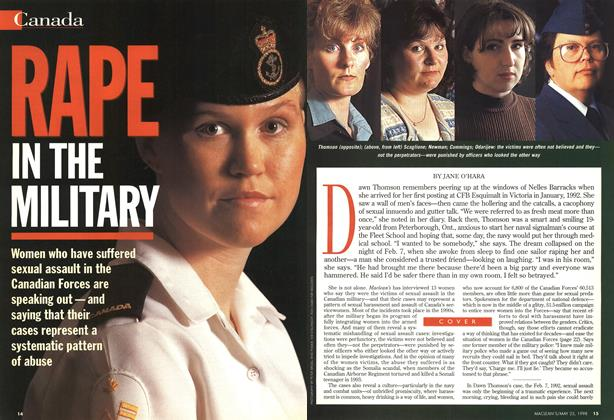 Article Preview: RAPE IN THE MILITARY, May 1998 | Maclean's
