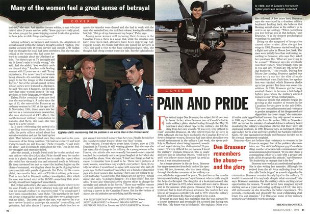 Article Preview: PAIN AND PRIDE, June 1998 | Maclean's