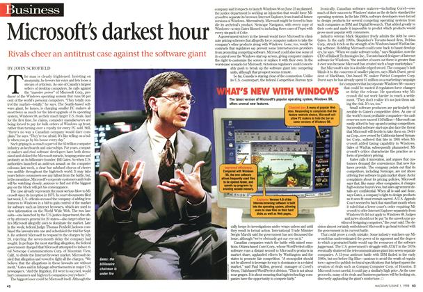 Article Preview: Microsoft's darkest hour, June 1998 | Maclean's