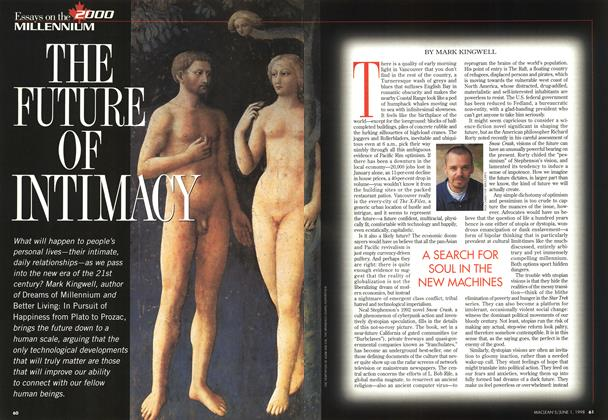 Article Preview: THE FUTURE OF INTIMACY, June 1998   Maclean's