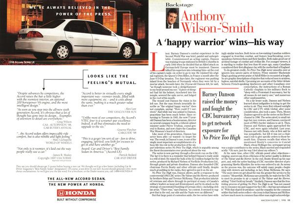 Article Preview: A 'happy warrior' wins—his way, June 1998 | Maclean's
