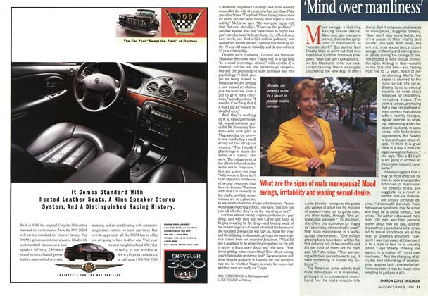 Article Preview: 'Mind over manliness', June 1998 | Maclean's