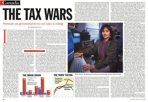 Article Preview: THE TAX WARS, June 1998 | Maclean's