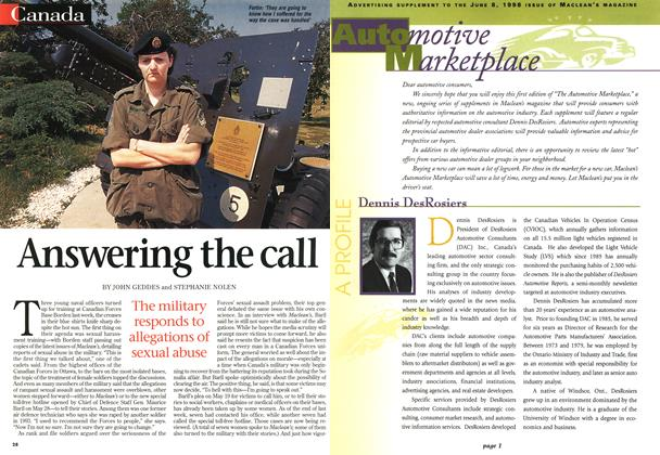 Article Preview: Answering the call, June 1998 | Maclean's
