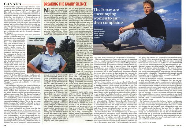 Article Preview: BREAKING THE FAMILY SILENCE, June 1998 | Maclean's
