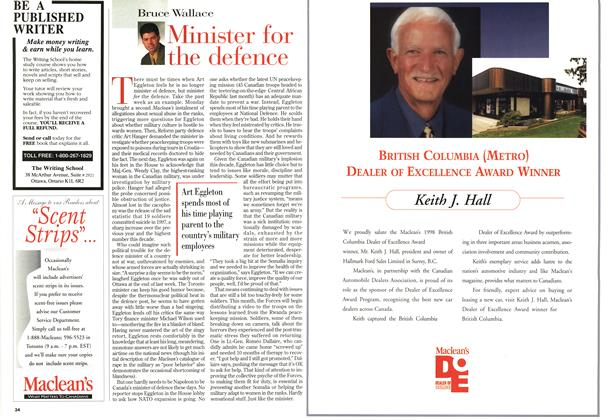 Article Preview: Minister for the defence, June 1998 | Maclean's