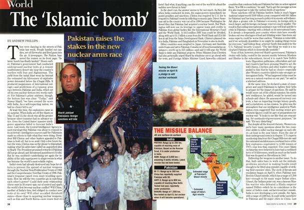 Article Preview: The 'Islamic bomb', June 1998 | Maclean's