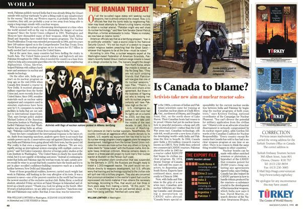 Article Preview: Is Canada to blame?, June 1998 | Maclean's