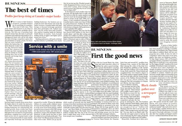Article Preview: The best of times, June 1998 | Maclean's