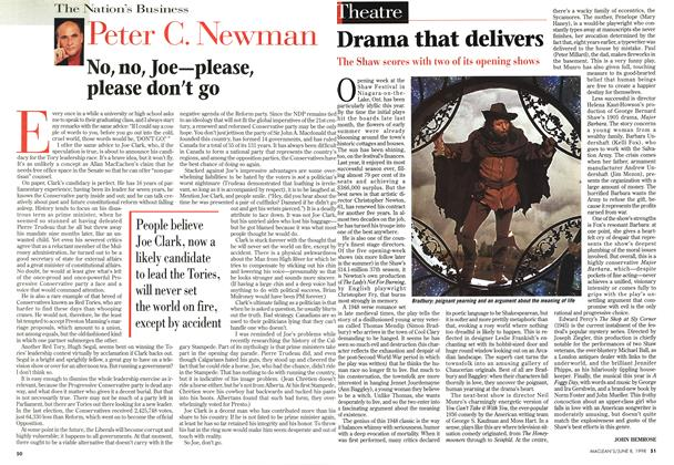 Article Preview: No, no, Joe—please, please don't go, June 1998 | Maclean's