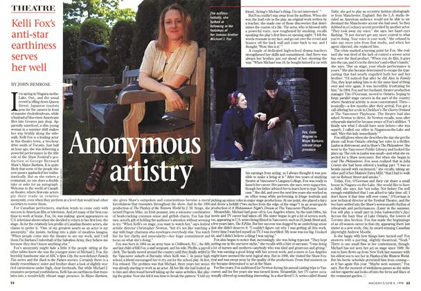 Article Preview: Anonymous artistry, June 1998 | Maclean's