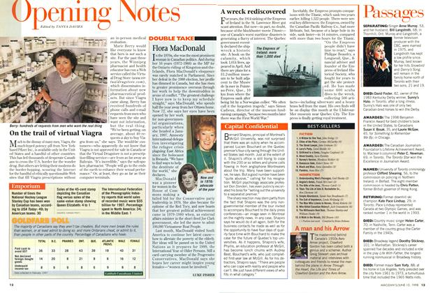 Article Preview: Opening Notes, June 1998 | Maclean's