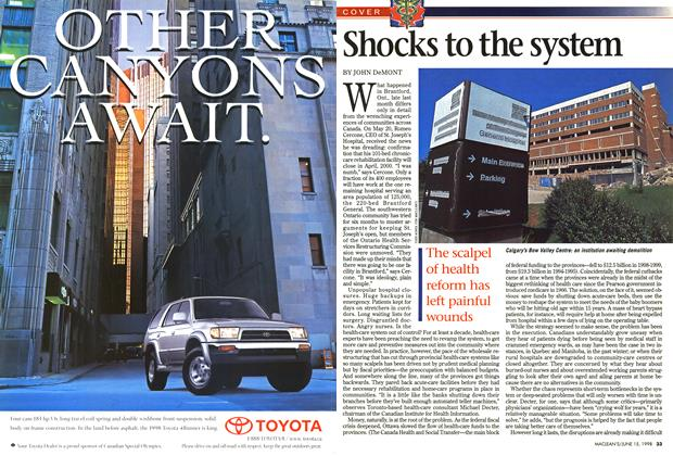 Article Preview: Shocks to the system, June 1998 | Maclean's