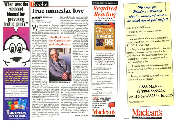Article Preview: True amnesiac love, June 1998 | Maclean's