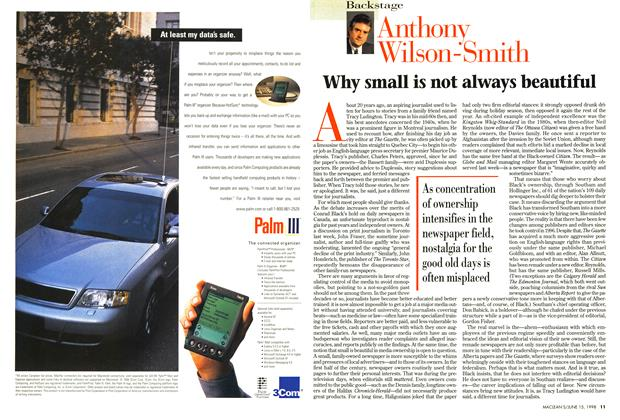 Article Preview: Why small is not always beautiful, June 1998 | Maclean's