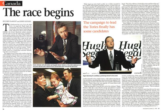 Article Preview: The race begins, June 1998 | Maclean's