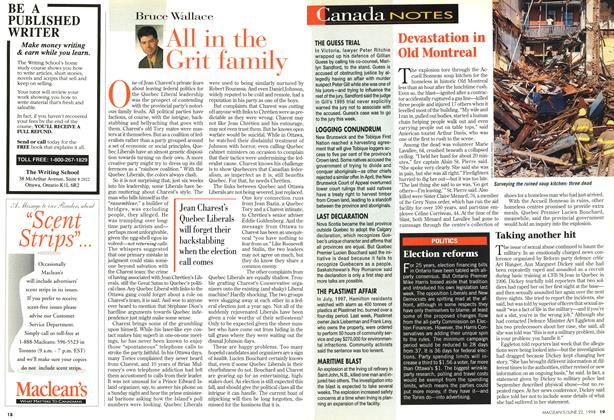 Article Preview: All in the Grit family, June 1998 | Maclean's