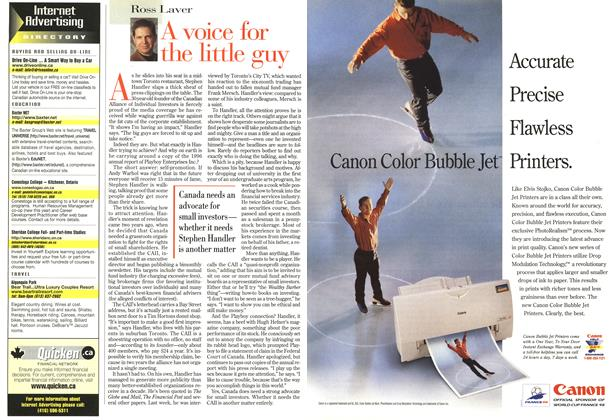 Article Preview: A voice for the little guy, June 1998 | Maclean's