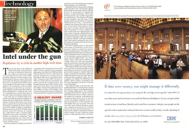 Article Preview: Intel under the gun, June 1998 | Maclean's