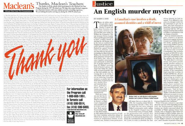 Article Preview: An English murder mystery, June 1998 | Maclean's