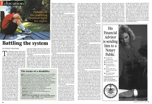 Article Preview: Battling the system, June 1998 | Maclean's
