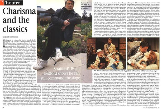 Article Preview: Charisma and the classics, June 1998 | Maclean's