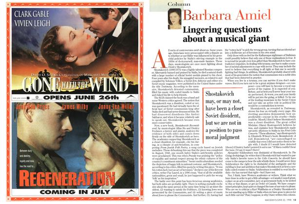 Article Preview: Lingering questions about a musical giant, June 1998 | Maclean's