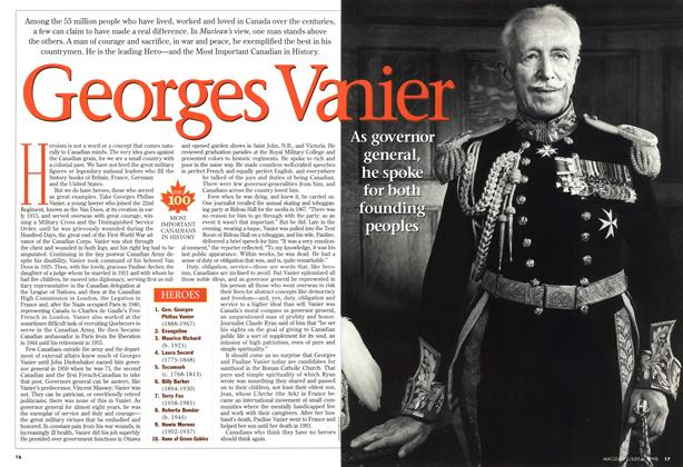 Article Preview: Georges Vanier, July 1998 | Maclean's
