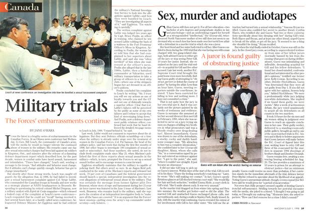 Article Preview: Military trials, July 1998 | Maclean's