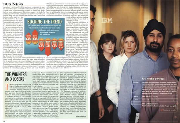 Article Preview: THE WINNERS AND LOSERS, July 1998 | Maclean's