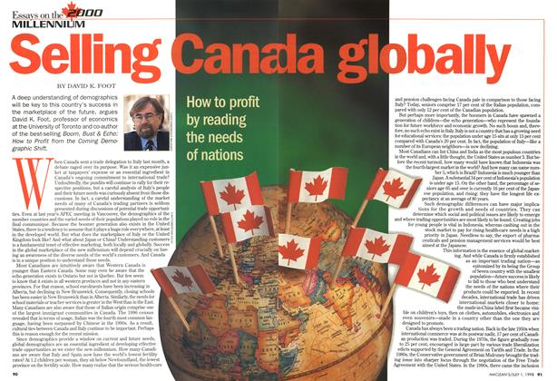 Article Preview: Selling Canada globally, July 1998 | Maclean's