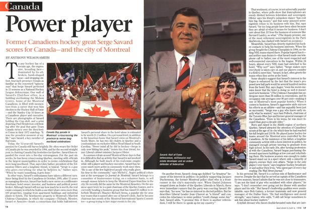Article Preview: Power player, July 1998 | Maclean's