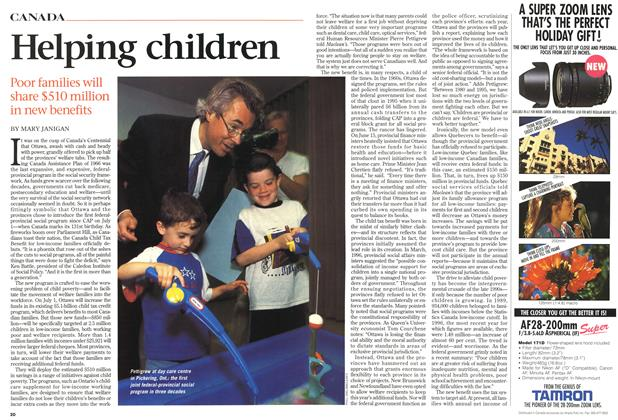 Article Preview: Helping children, July 1998 | Maclean's