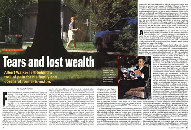 Article Preview: Tears and lost wealth, July 1998 | Maclean's