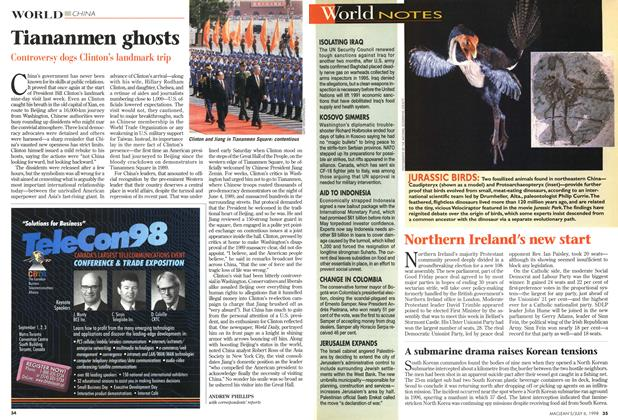 Article Preview: Tiananmen ghosts, July 1998 | Maclean's