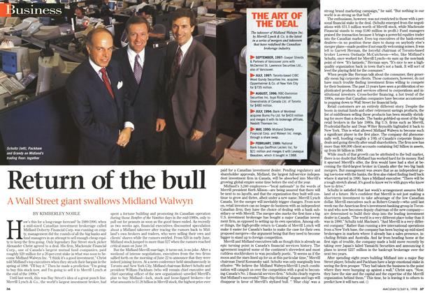 Article Preview: Return of the bull, July 1998 | Maclean's