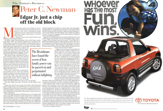 Article Preview: Edgar Jr. just a chip off the old block, July 1998 | Maclean's