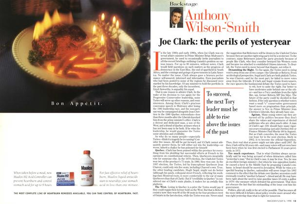 Article Preview: Joe Clark: the perils of yesteryear, July 1998 | Maclean's