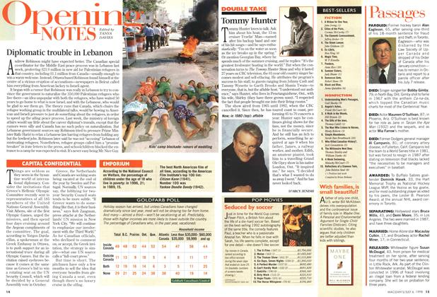 Article Preview: Opening NOTES, July 1998 | Maclean's