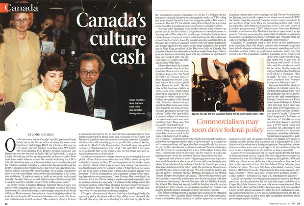 Article Preview: Canada's culture cash, July 1998 | Maclean's