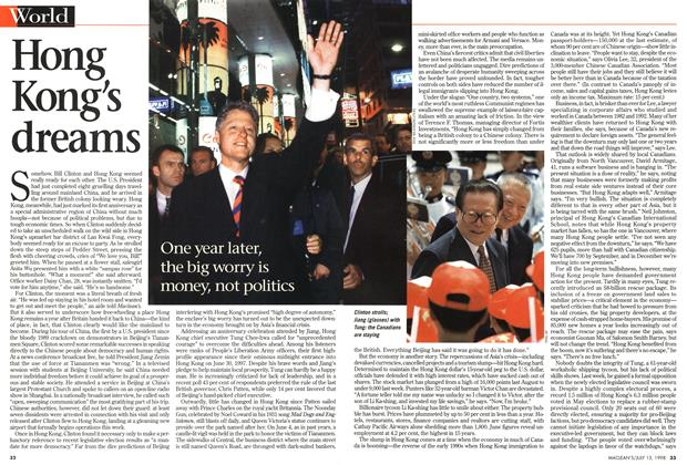 Article Preview: Hong Kong's dreams, July 1998 | Maclean's