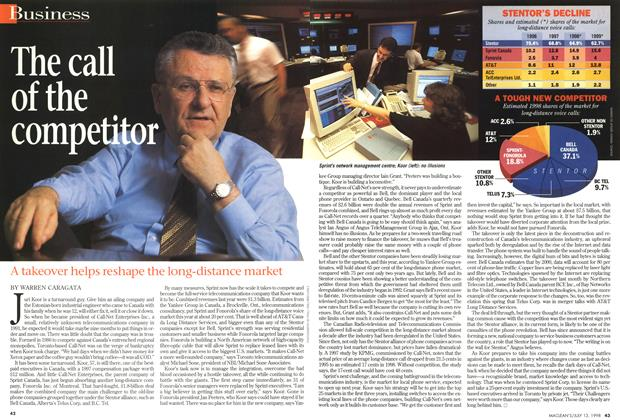 Article Preview: The call of the competitor, July 1998 | Maclean's