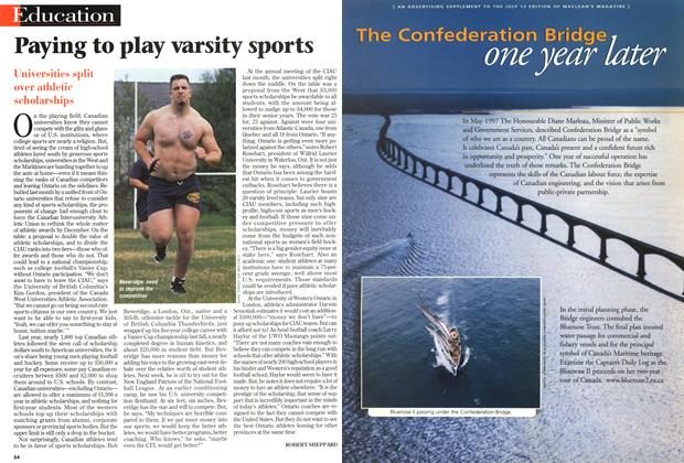 Article Preview: Paying to play varsity sports, July 1998 | Maclean's